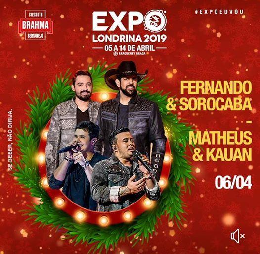 Matheus e Kauan  Fernando e Sorocaba - Expo Londrina