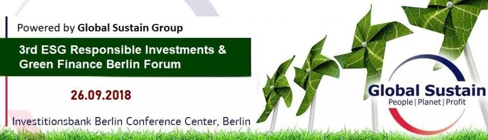 3rd ESG Responsible Investments Green Finance & Brands Forum