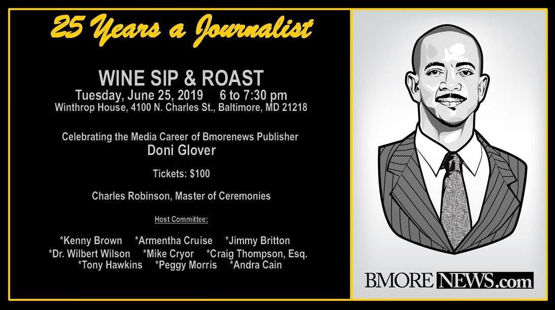 25 Years a Journalist Wine Sip & Roast Honoring Doni Glover