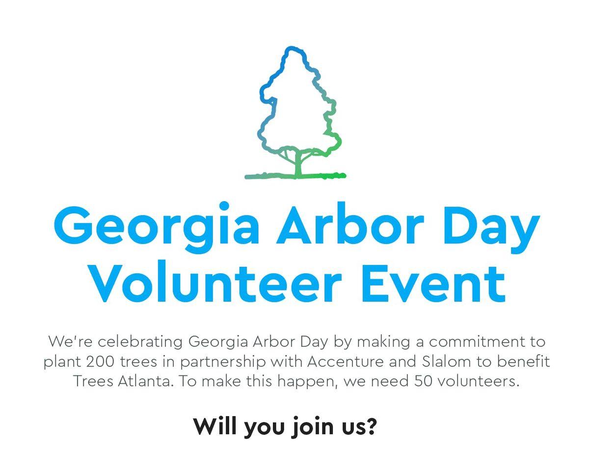Trees Atlanta Georgia Arbor Day Event