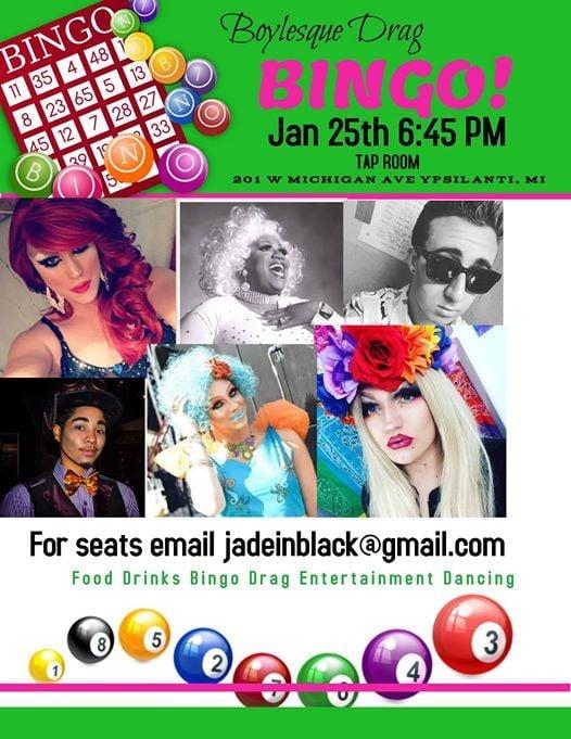 Drag Bingo Friday Jan 25th for Huron Valley Humane Society Part2