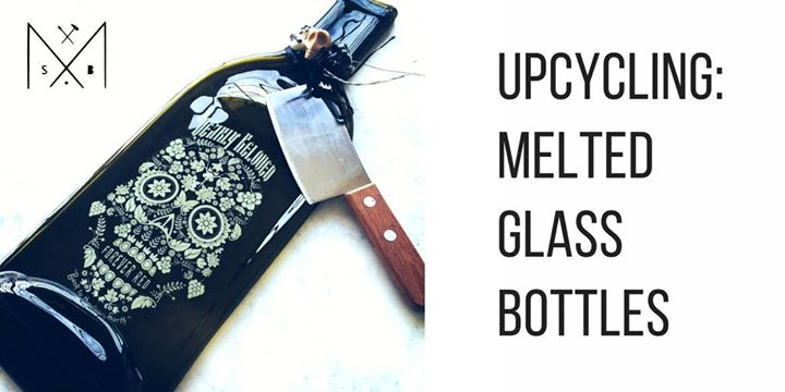 Upcycling melted glass bottles at make south bend south bend - How do you melt glass bottles ...