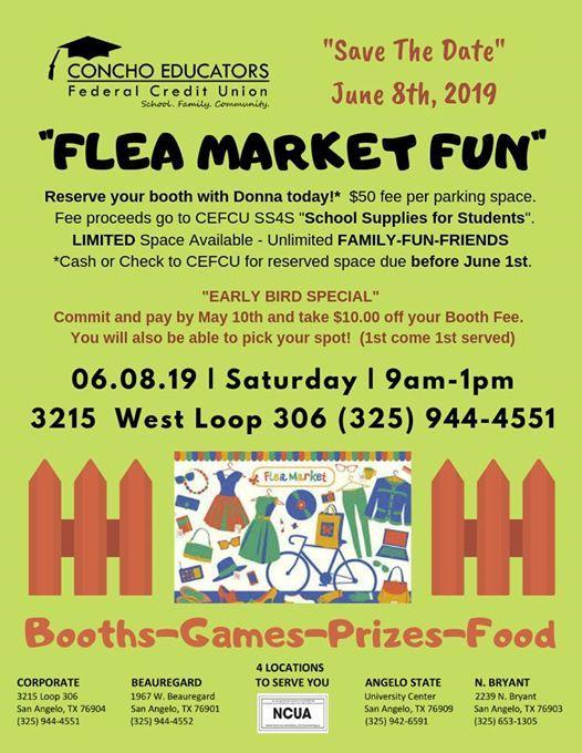 Flea Market Fun At Concho Educators Federal Credit Union