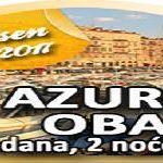 Azurna obala - 5 dana 2 noenja - VE OD 99 EURA