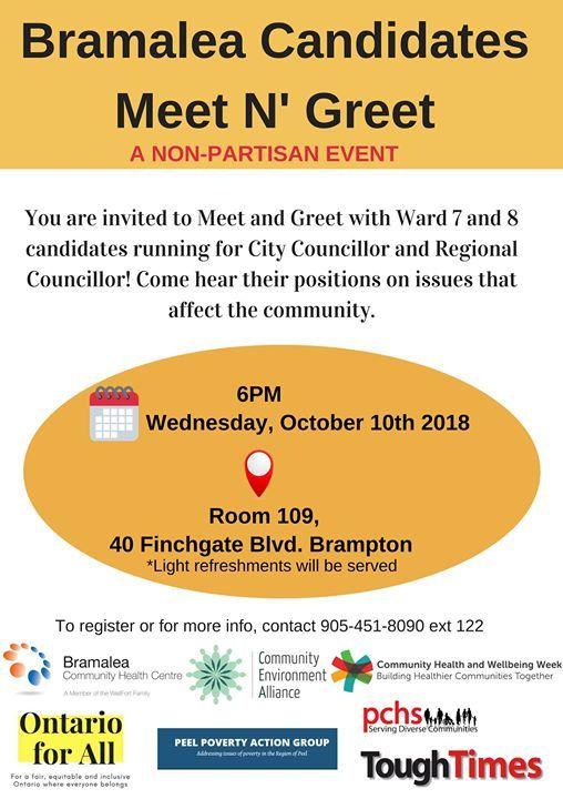 Bramalea Candidates Meet N Greet