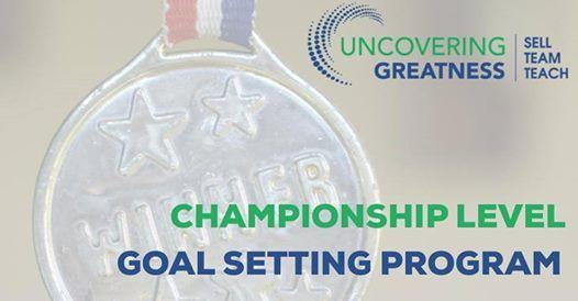 Championship Level Goal Setting Workshop