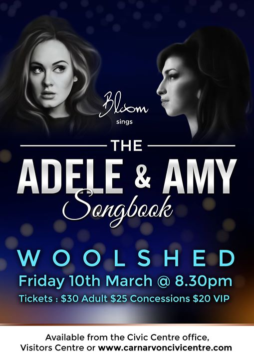 Adele & Amy Songbook Carnarvon Civic Centre