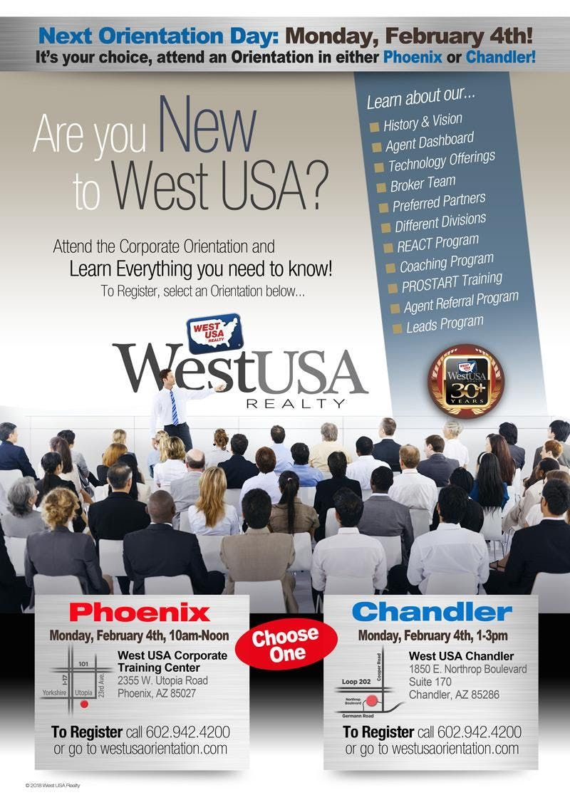 West USA Realty Chandler Orientation - February