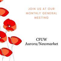 CFUW AuroraNewmarket April General Meeting