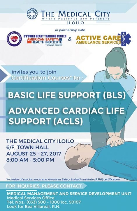BLS and ACLS Training with ASHI certification at The Medical City ...