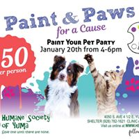 Paint &amp Paws for a Cause