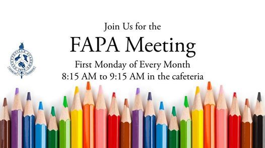 FAPA Monthly Meeting