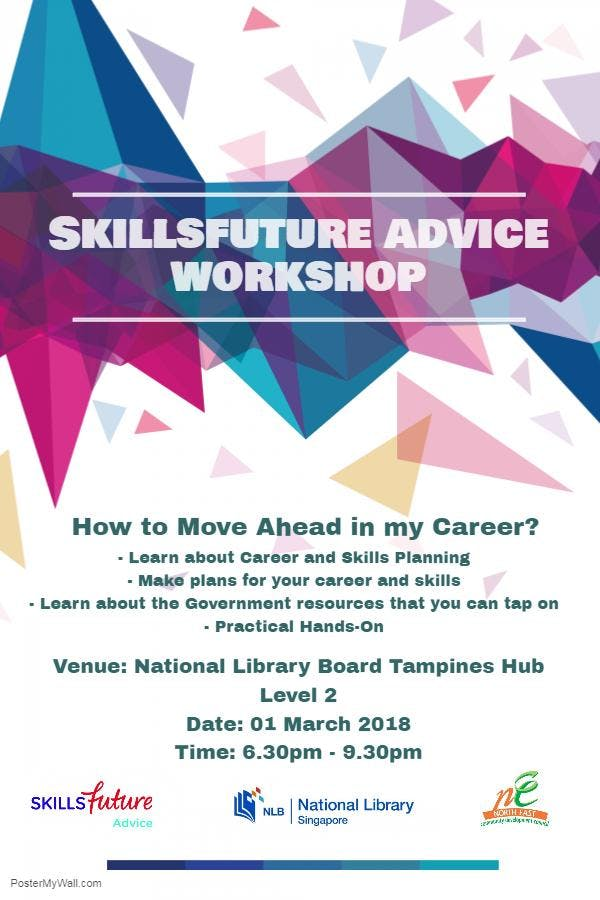 SkillsFuture Advice Workshop  NLB Pasir Ris White Sand