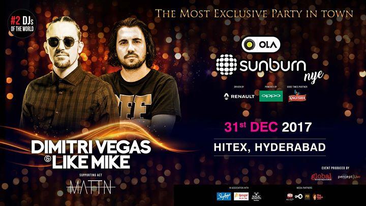 OLA Sunburn NYE with Dimitri Vegas & Like Mike - Hyderabad