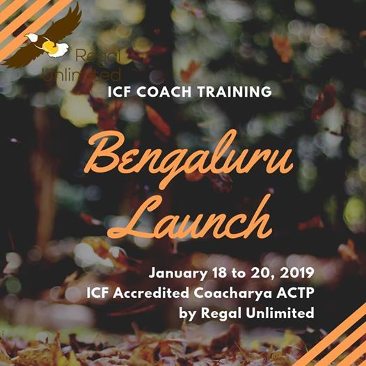 Bengaluru Launch ICF accredited Coacharya ACTP Coach Training
