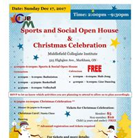 Club M Sports and Social Open House &amp Christmas Celebration