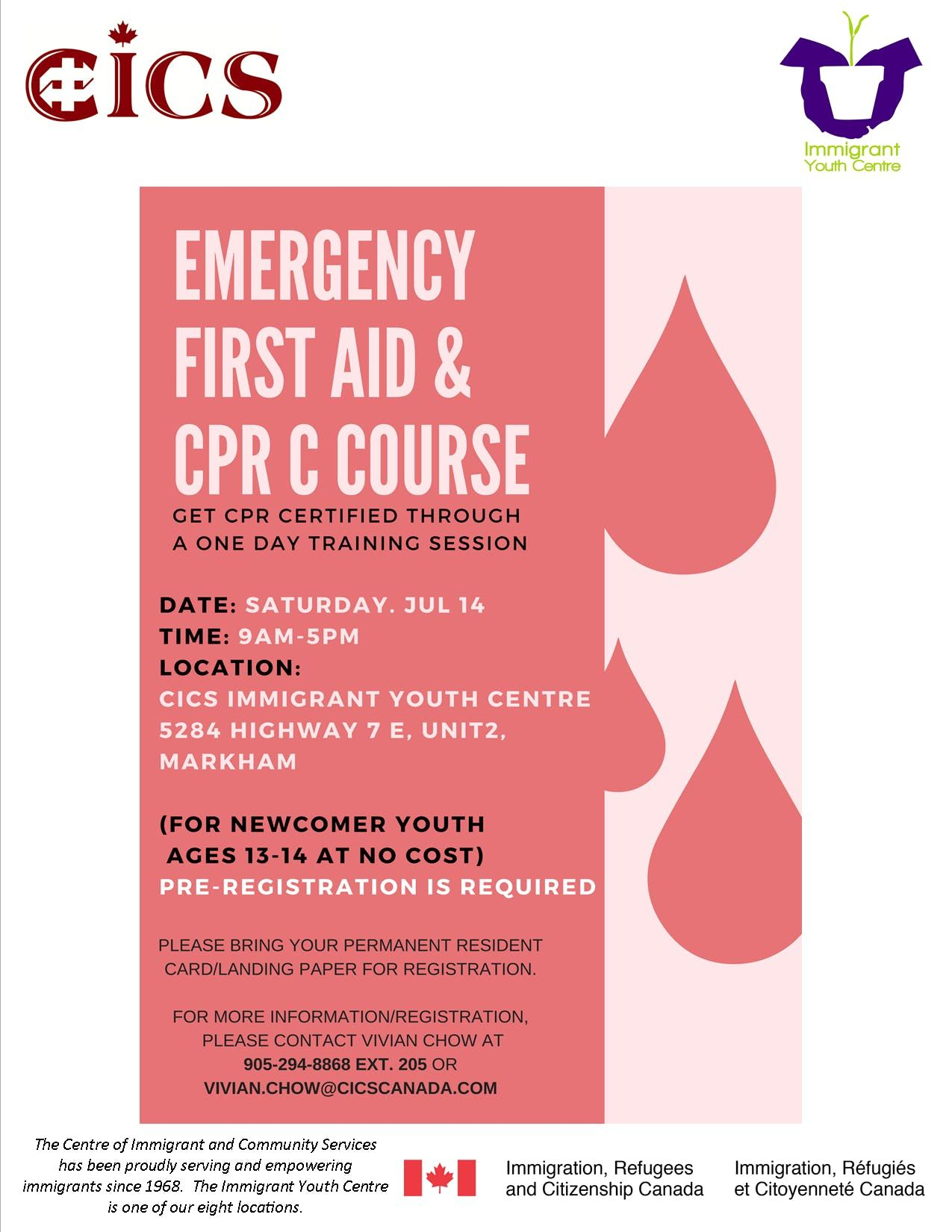 Emergency First Aid Cpr C Course At 5284 Hwy 7 Markham