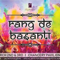 Rang De Basanti Holi Pool Party at Chancery Pavillion Hotel