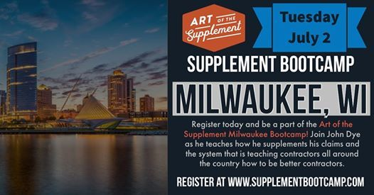 Roofing Supplement Bootcamp - Milwaukee at Milwaukee, Wisconsin