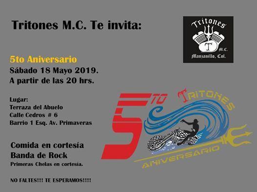 5to Aniversario At Tritones M C Colima