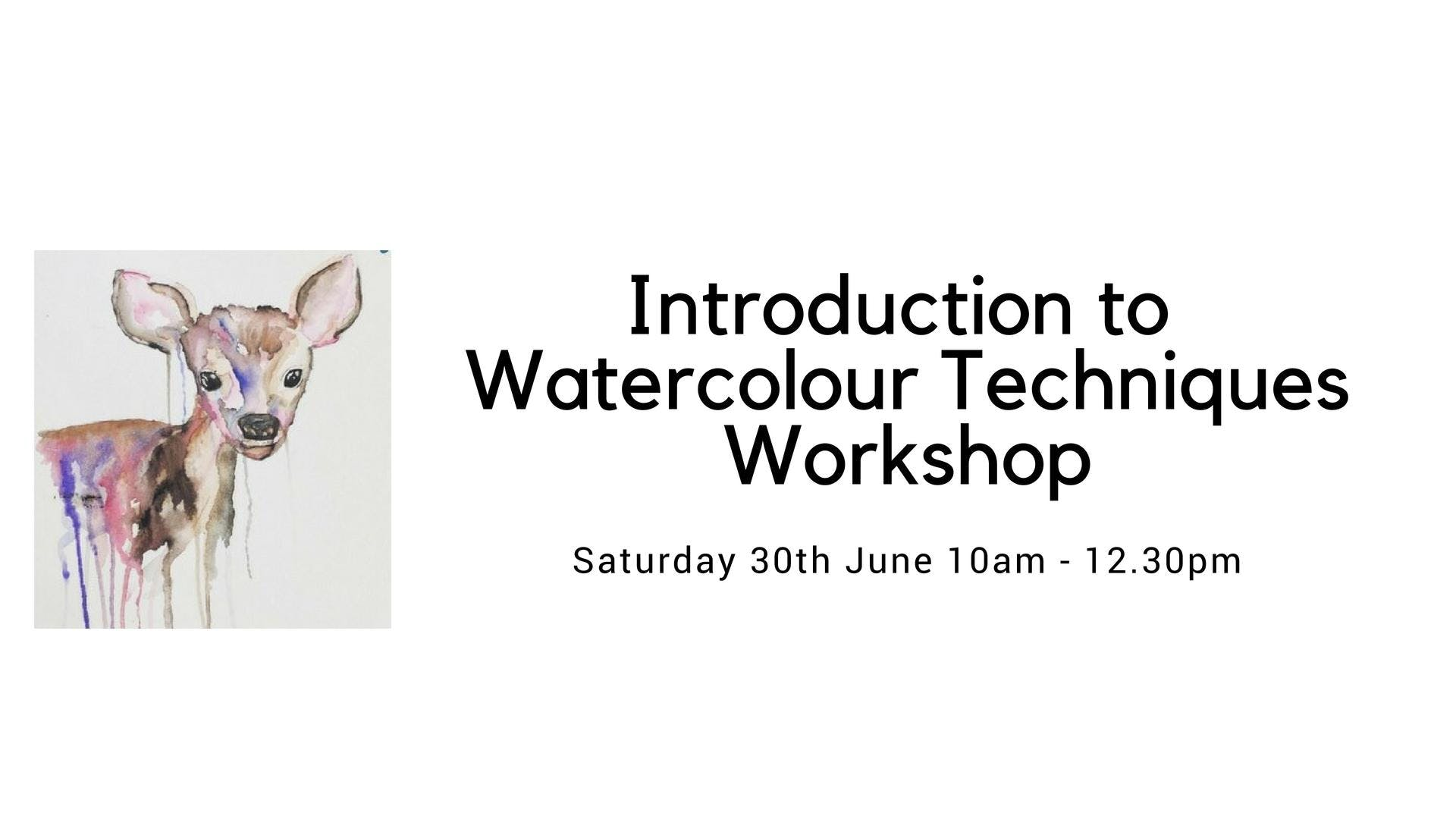 Beginners Introduction to Watercolours Workshop