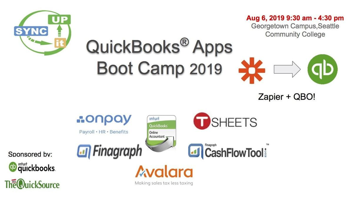 QuickBooks Apps Boot Camp 2019 at South Seattle Community College