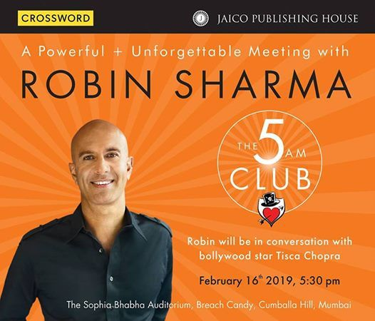 A Powerful  Unforgettable Meeting with Robin Sharma
