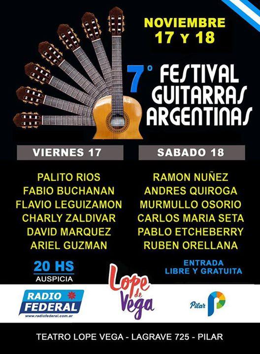 7 Festival Guitarras Argentinas en Pilar