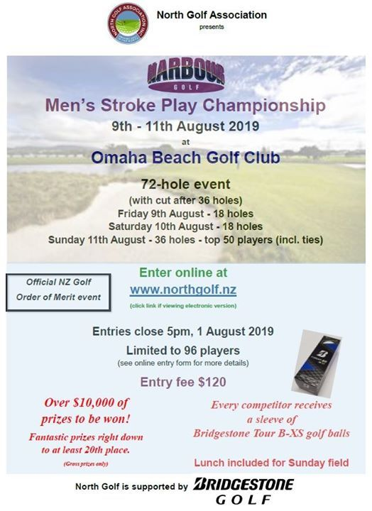 Harbour Stroke Play - 9-11 August 2019