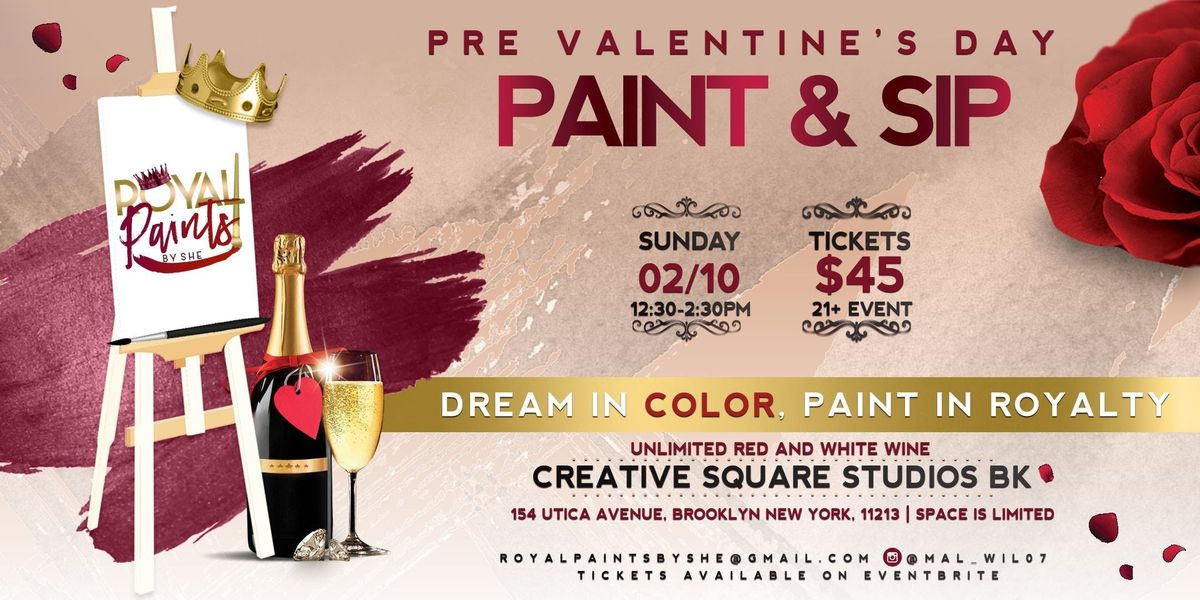 Pre Valentines Day Paint Sip At 154 Utica Ave Brooklyn