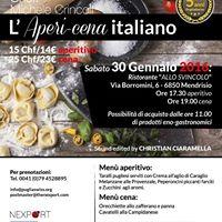 LAperi-Cena Italiano a Mendrisio con PugliaSwiss Nexport &amp Partners