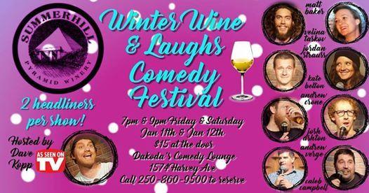 Summerhill Winery presents Winter Wine & Laughs Comedy Festival