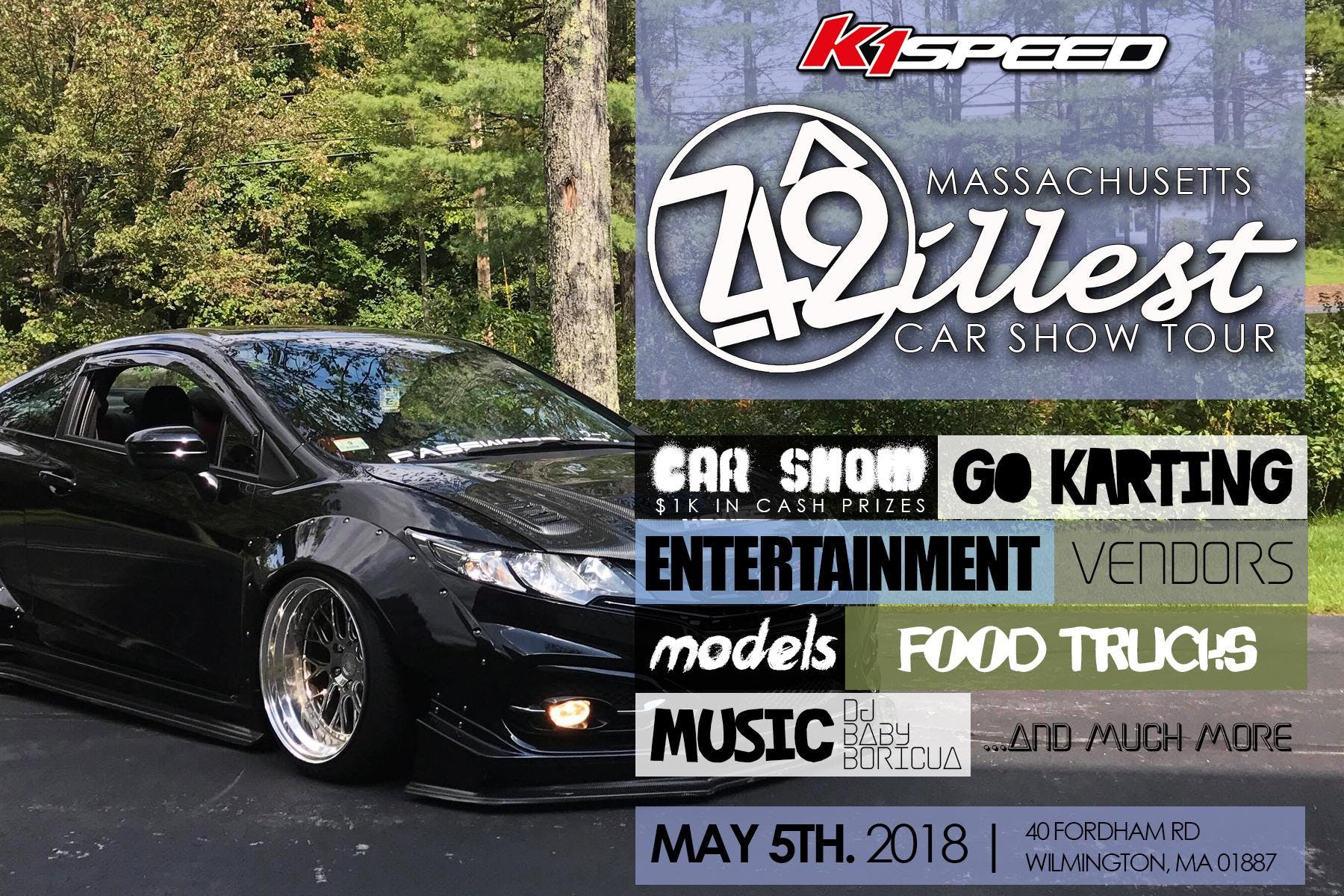 MASSACHUSETTS illest Car Show at K1 Speed, Wilmington