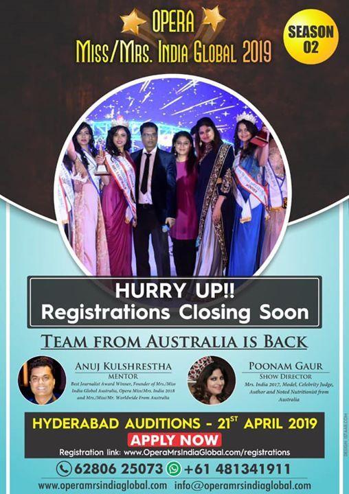 Opera MissMrs India Global Auditions