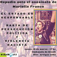Intervencin en Embajada de Brasil. MarielleFrancoPresente