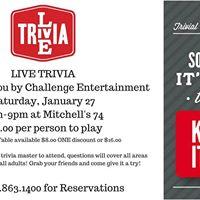 Live Trivia Night at Mitchells 74