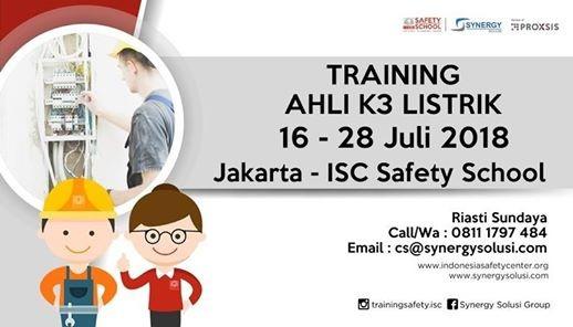 Training Ahli K3 Listrik 16-28 Juli 2018
