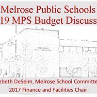 Melrose Public Schools FY19 Budget Discussion