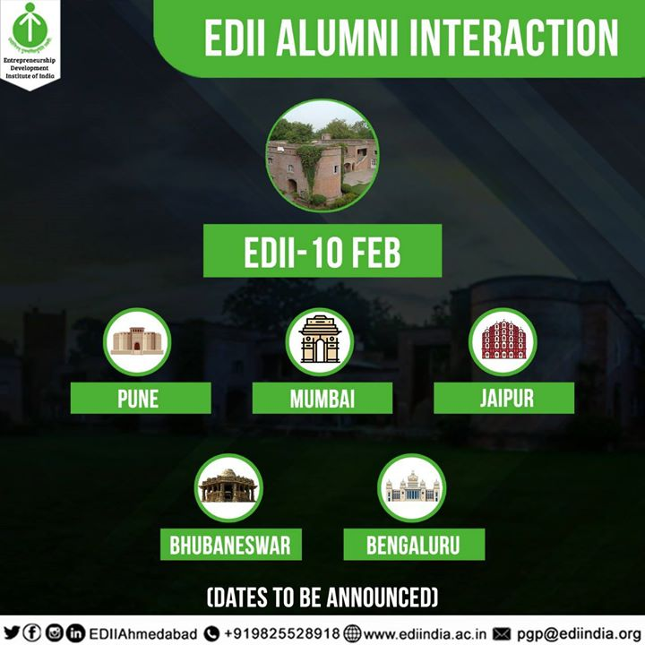 EDII Alumni Meet - 10th February