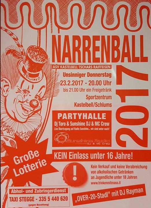 Schlums Narrenball 2017 at Schlums, Nordfriesland