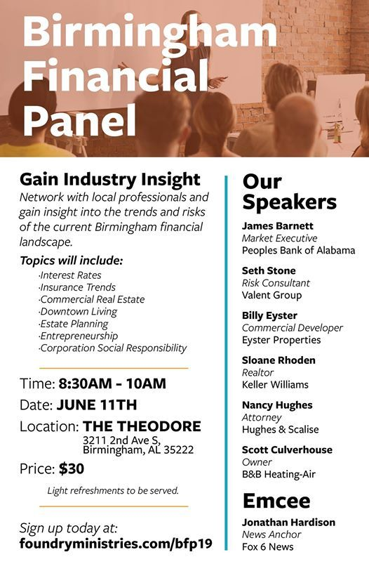 Birmingham Financial Panel at The Theodore, Birmingham