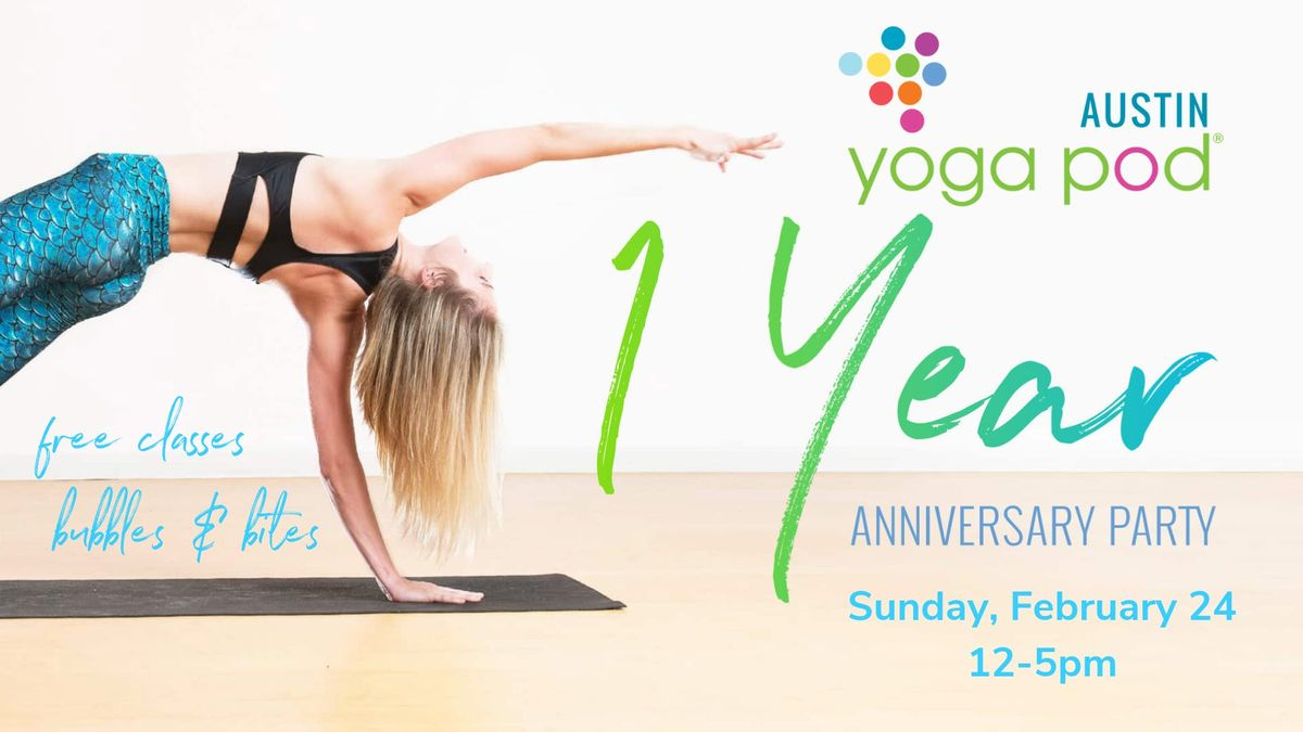 Yoga Pod One-Year Anniversary Party