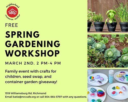 Free Spring Gardening Workshop