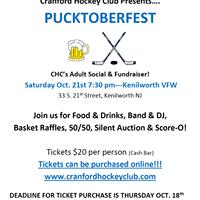 BINGE at CHC Pucktoberfest (Adult Social &amp Fundraiser)