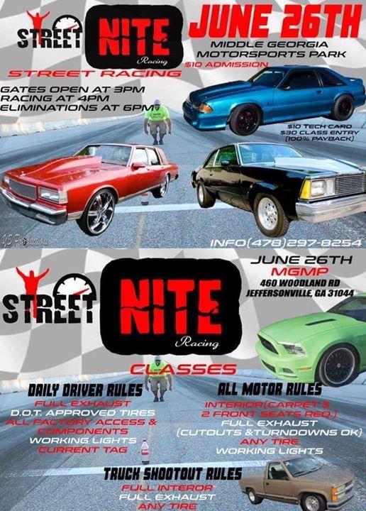 Street Nite/Street Racing @MGMP at Middle Georgia