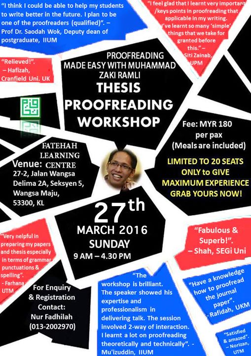 Proofreading thesis malaysia