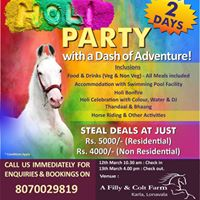 Holi party with adventure