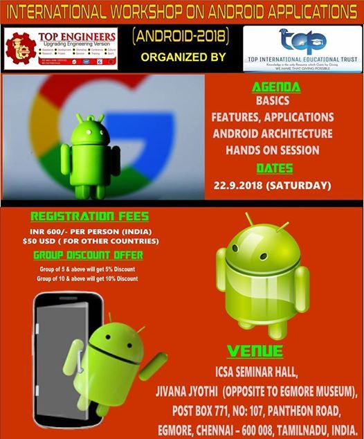 International Workshop on Android Applications (ANDROID-2018)