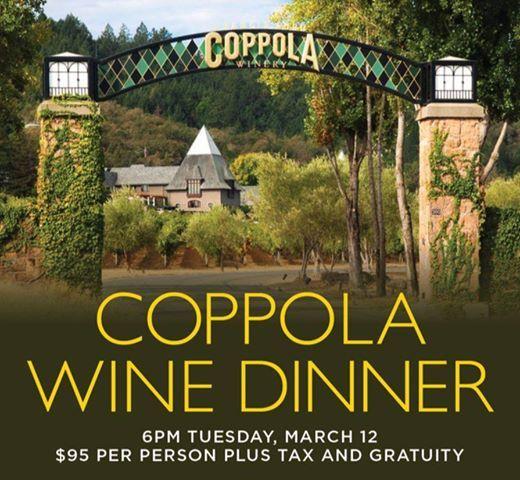 Coppola Wine Winner at Catal Restaurant