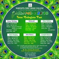 SARANG-2018.(MFGC College Fest)